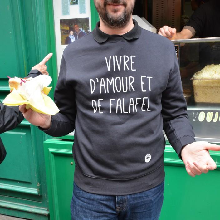 Un bon falafel plein d'amour